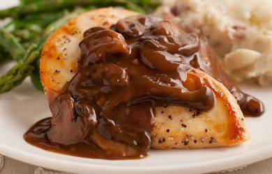 Sautéed Chicken Breasts with Mushroom and Merlot Demi Glace | Recipe