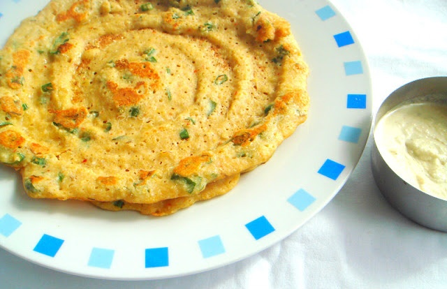 Priya's Versatile Recipes: Foxtail Millet Savoury Crepes/ Thinai ...
