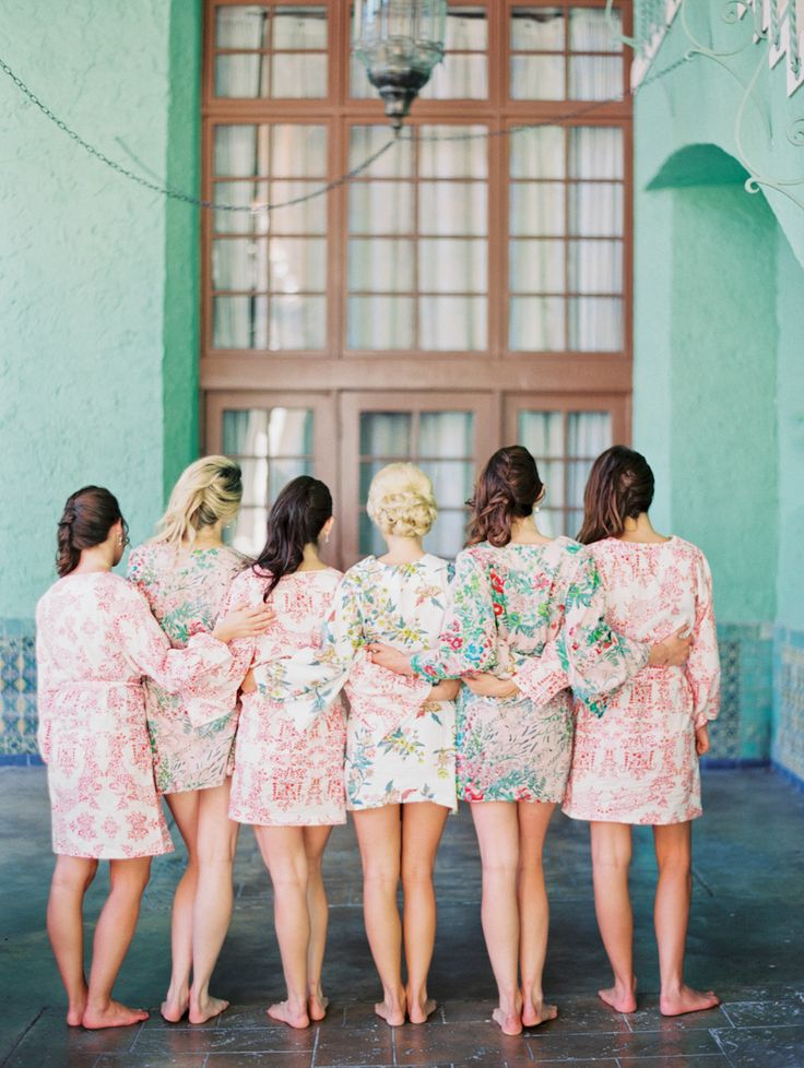 #Bridesmaids Robes | Michelle March Photography | See the wedding on SMP -- http://www.StyleMePretty.com/florida-weddings/coral-gables/2013/12/03/biltmore-hotel-wedding-by-michelle-march/ @Plum Pretty Sugar