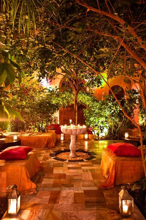 Marrakech, Morocco... Gorgeous garden spot of all things Bohemian.  Can't beat the look!    gorgeous