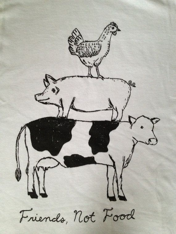 Friend Not Food Vegan/Vegetarian Tshirt by VeganVeins on Etsy, $18.99