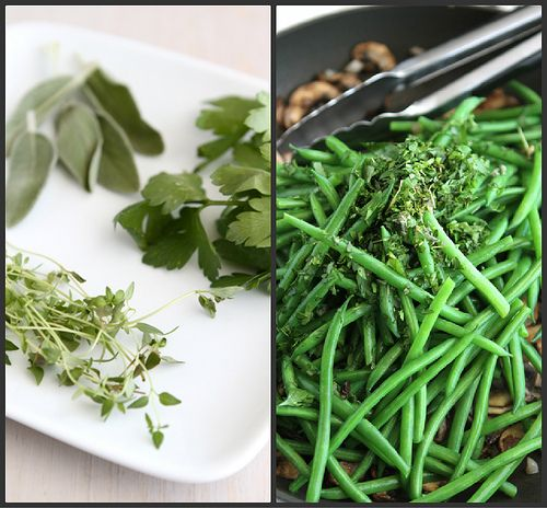 fresh green beans with bacon mushrooms amp herbs recipe by cookin ...