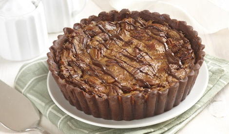BLACK BOTTOM CHOCOLATE PECAN PIE | Devilish Temptations on my waist l ...