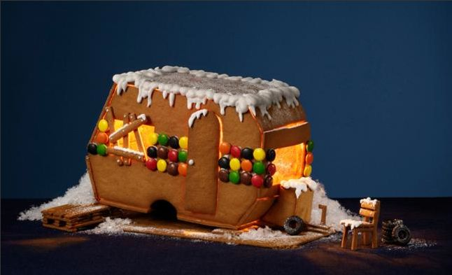 Gingerbread trailer craft ideas pinterest for Airstream christmas decoration