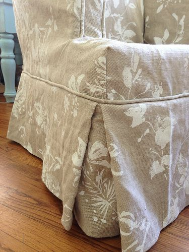 Wing Chair Slipcover Before and After | diy ideas | Pinterest