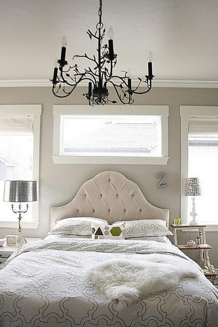 silver gray white master bedroom rooms pinterest