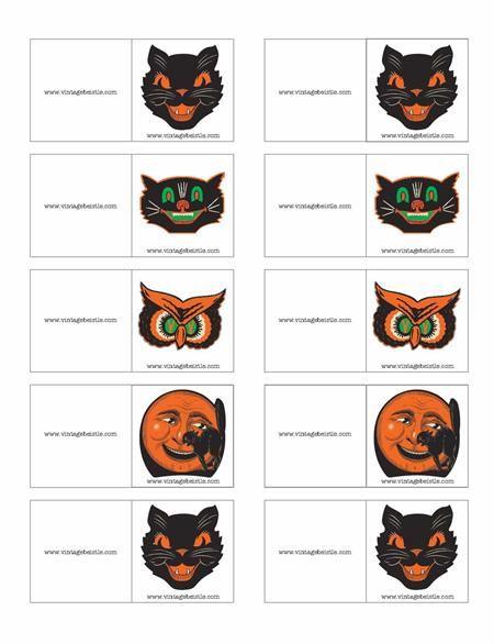 halloween name badge template