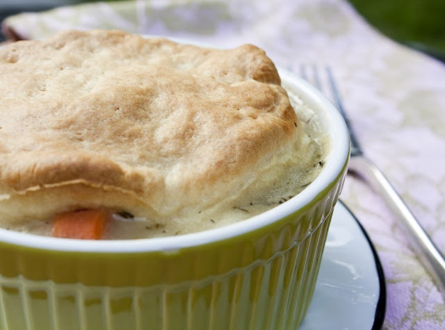 Individual Chicken Pot Pies that are healthy (all veggies, no potatoes ...