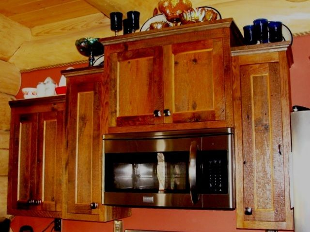Reclaimed Barn Wood Kitchen Cabinets Next Home Ideas Pinterest