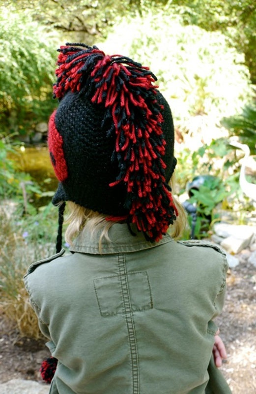 Free Knit Pattern For Scarf : Free Crochet Mohawk hat Pattern. Sew it Pinterest