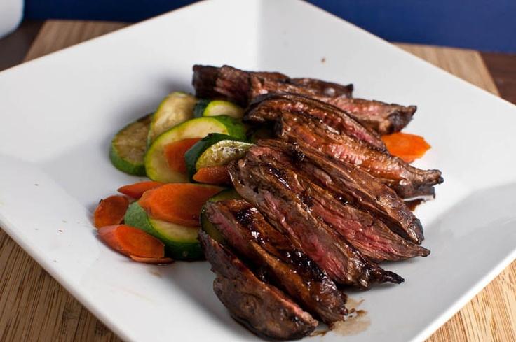 Balsamic Glazed Skirt Steak - very good - serve over rice or garlic ...