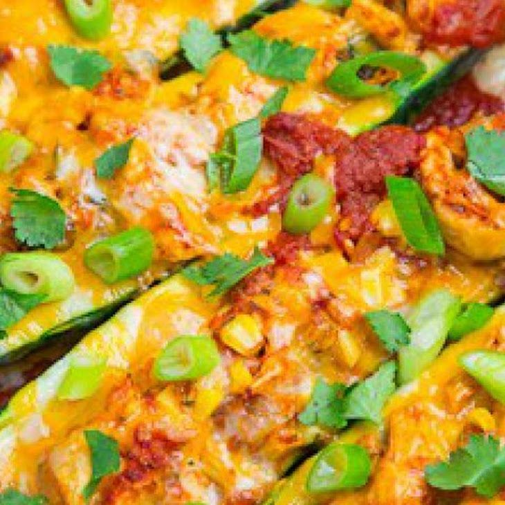 Chicken Enchilada Stuffed Zucchini | Zucchini... and more zucchini ...