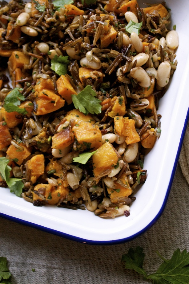 Wild rice & roasted butternut squash salad | In Pursuit of More