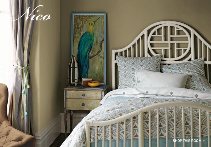 peacock bedding...