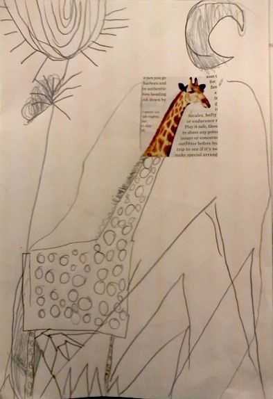 Expand An Image--start off a child's drawing with a small magazine or photo image...and let them take off!