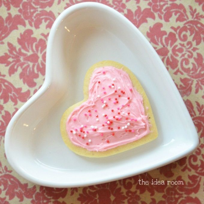 valentine's day sugar cookie hearts