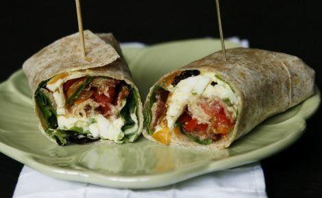 Egg salad BLT wrap | Favorite Recipes | Pinterest