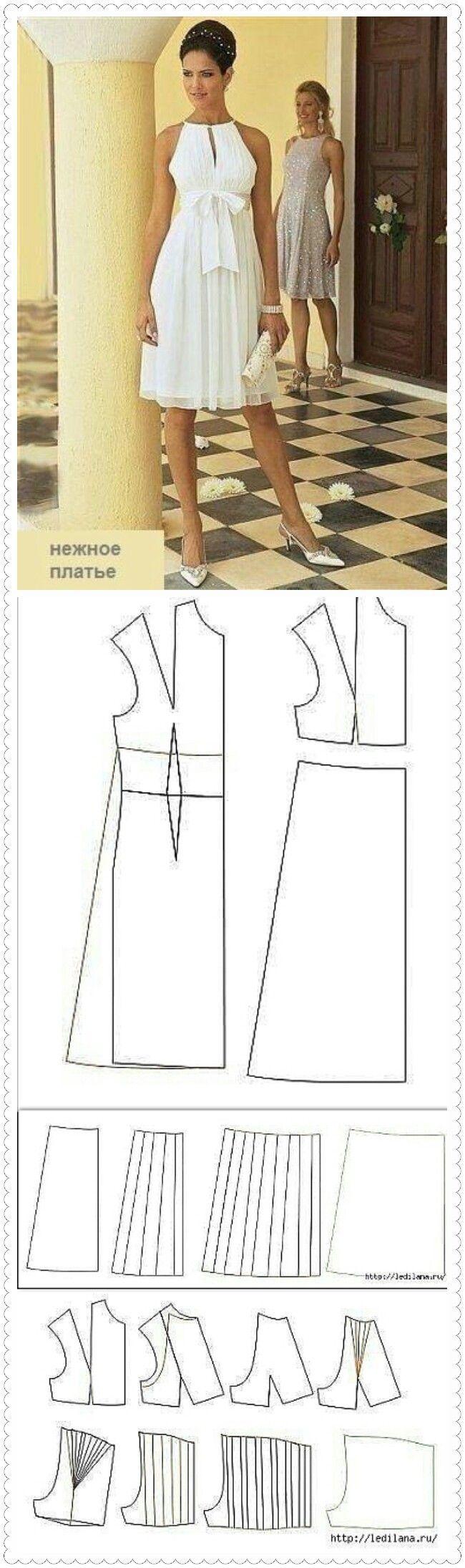 Выкройки платьев пинтерест