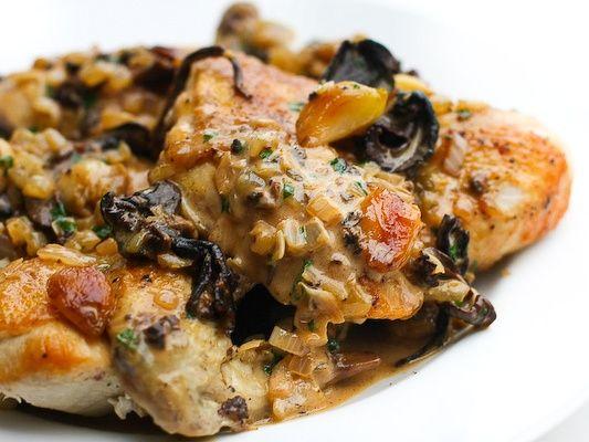 Pan Roasted Chicken with Porcini Mushroom Cream Sauce | Elegant Foods ...