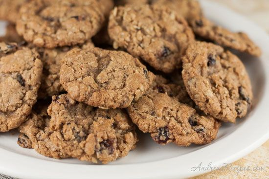 Whole Wheat Oatmeal Cranberry Cookies - Andrea Meyers