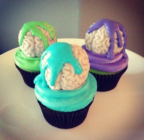 Brain cupcakes | Nerdy nummies by Rosanna Pansino | Pinterest