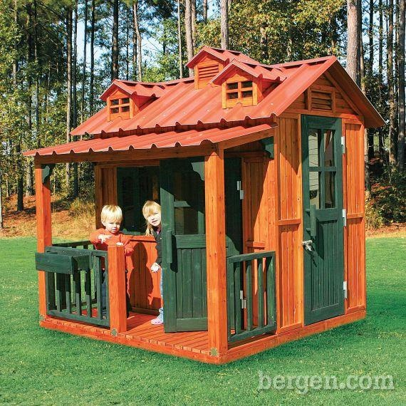 Playhouse cabin for kids cool rooms and playhouses for for Kids cabin playhouse