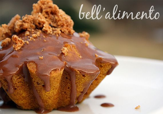 Pumpkin Cakes with Nutella Glaze | Recipe