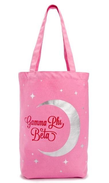 #gammaphibeta Crescent Moon Tote Bag $15.00