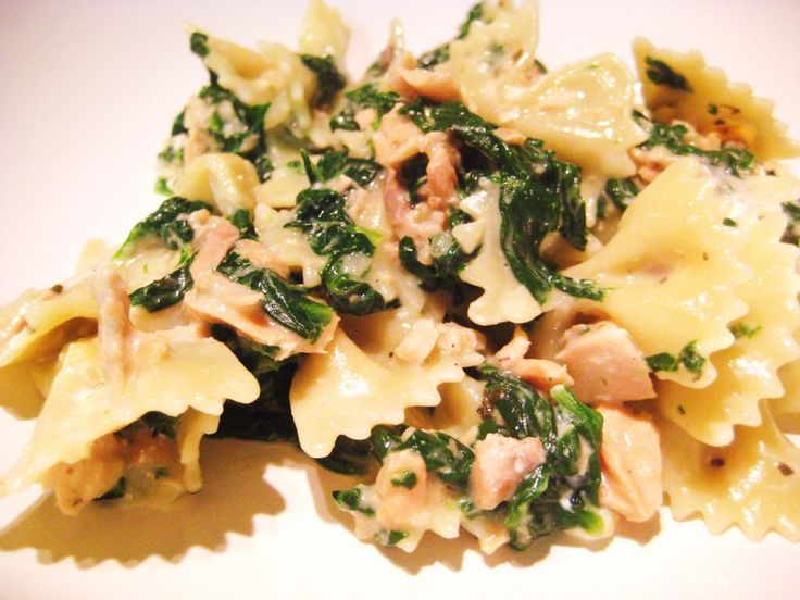 Salmon Spinach Goat Cheese Pasta | Recipes | Pinterest