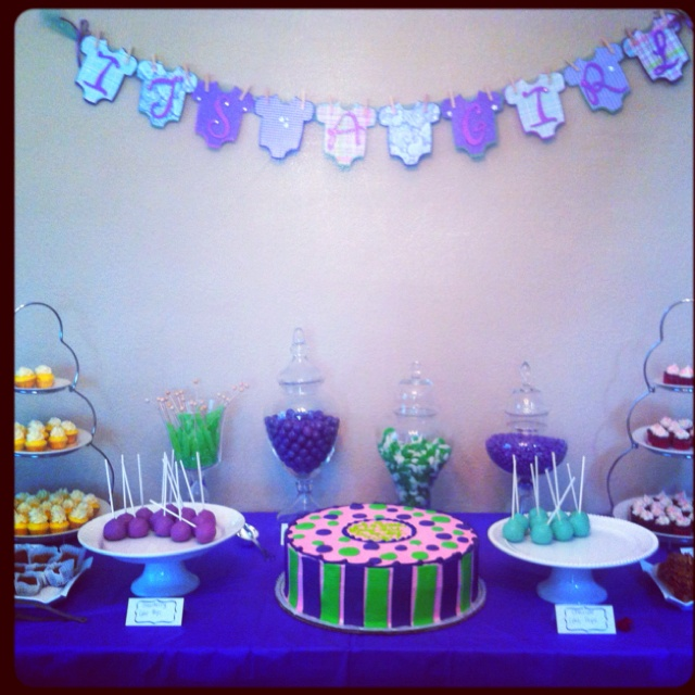purple green baby shower decor baby showers pinterest