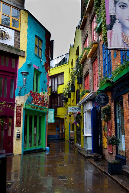 Neal's Yard, London.  This would be the coolest background for a photo shoot.