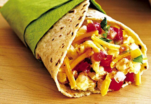 Scrambled Egg Breakfast Burrito | Food | Pinterest