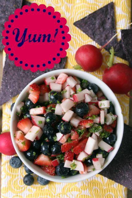 salsa strawberry blueberry tart blueberry strawberry jicama salsa