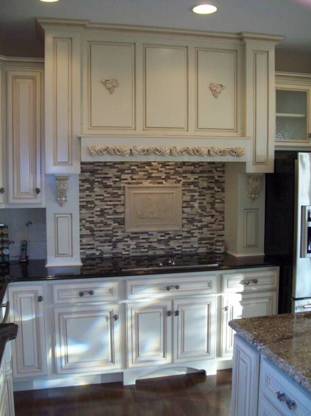 Pin by chris blair on kitchen ideas pinterest - Off white cabinets with chocolate glaze ...