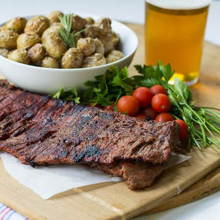 Skirt Steak With Roasted Potatoes And Lemon Recipe — Dishmaps