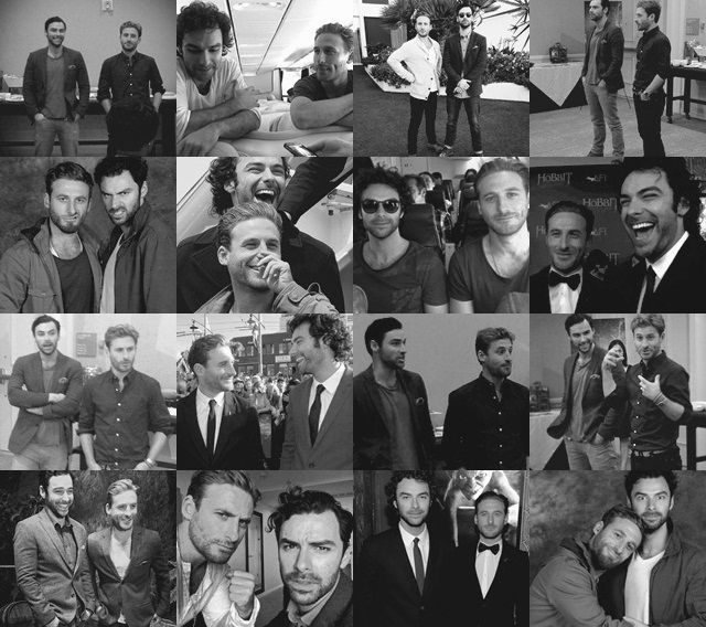 Aidan and Dean - like real brothers | Aidan Turner | Pinterest