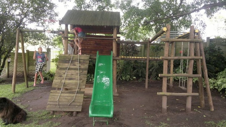 playset turned chicken coop