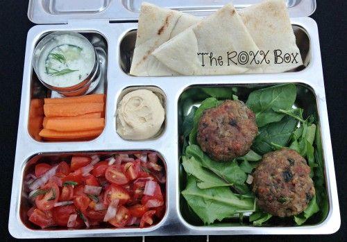Mini Greek Lamb Burgers in @Planet Box @The ROXX Box www.theroxxbox ...