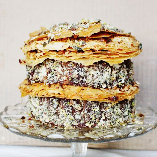 Pistachio Baklava Birthday Cake | Frosted Layers | Pinterest