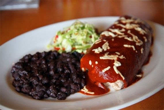 ... black beans in a roasted tomato-chipotle sauce and with a Lime Cabbage