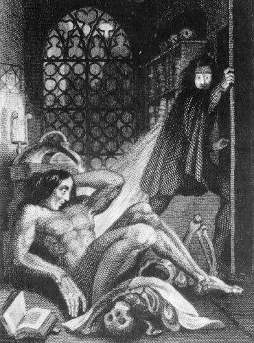 frankenstein illustration | dark and light | Pinterest