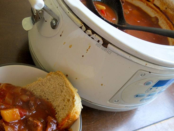 Gulaschsuppe- German slow cooker beef and tomato stew. Dinner Saturday