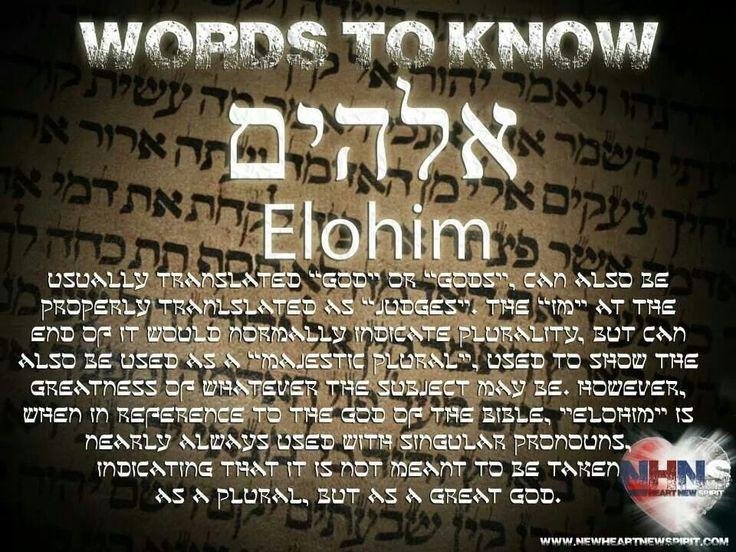 Via Mike WilliamsElohim In Hebrew