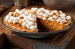 Sweet potato pie. I made a slight variation and used Biscoff in place ...