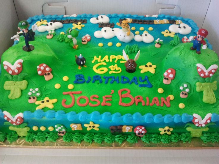 Birthday Cake Design For Big Brother : Mario Sheet Cake Pictures to Pin on Pinterest - PinsDaddy