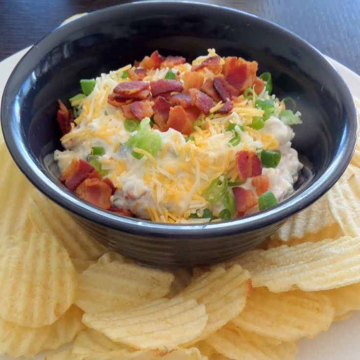 Loaded Baked Potato Dip: A dip made with sour cream, green onions ...