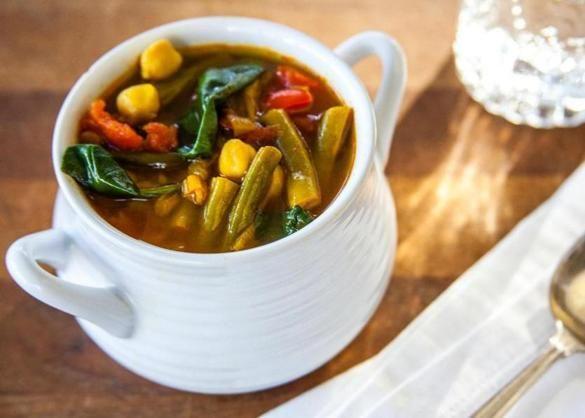 Recipe for farro-vegetable soup - The Boston Globe
