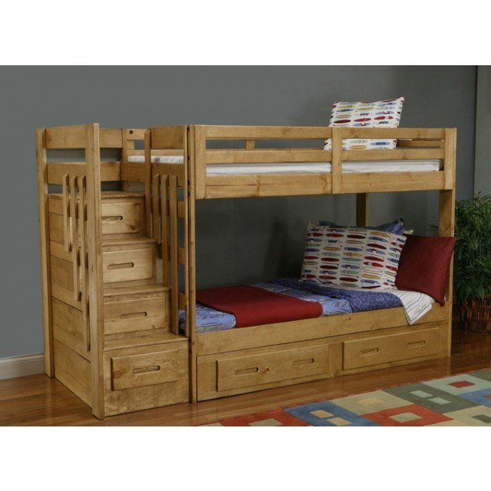 Ponderosa Staircase Bunk Bed 700 x 700