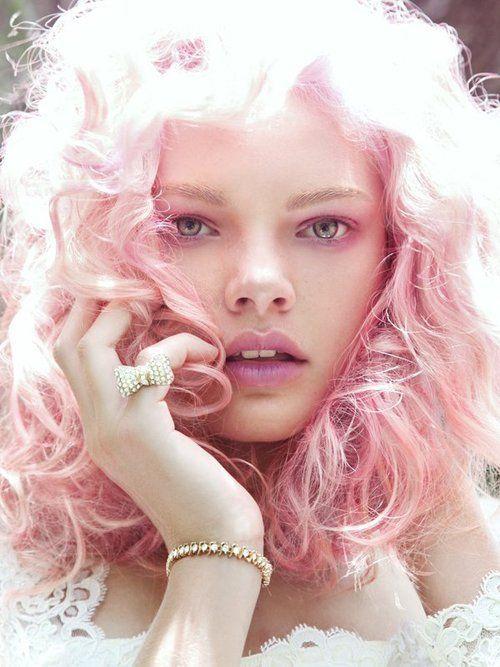 pink cotton candy hair hair inspiration pinterest
