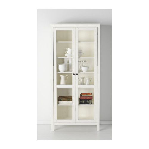Glass Door Media Cabinet Ikea ~   Glass door China cabinet in Black Brown, Grey Brown and White  IKEA $